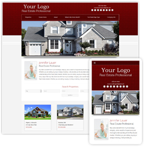 Backsplash Series Real Estate Website Template