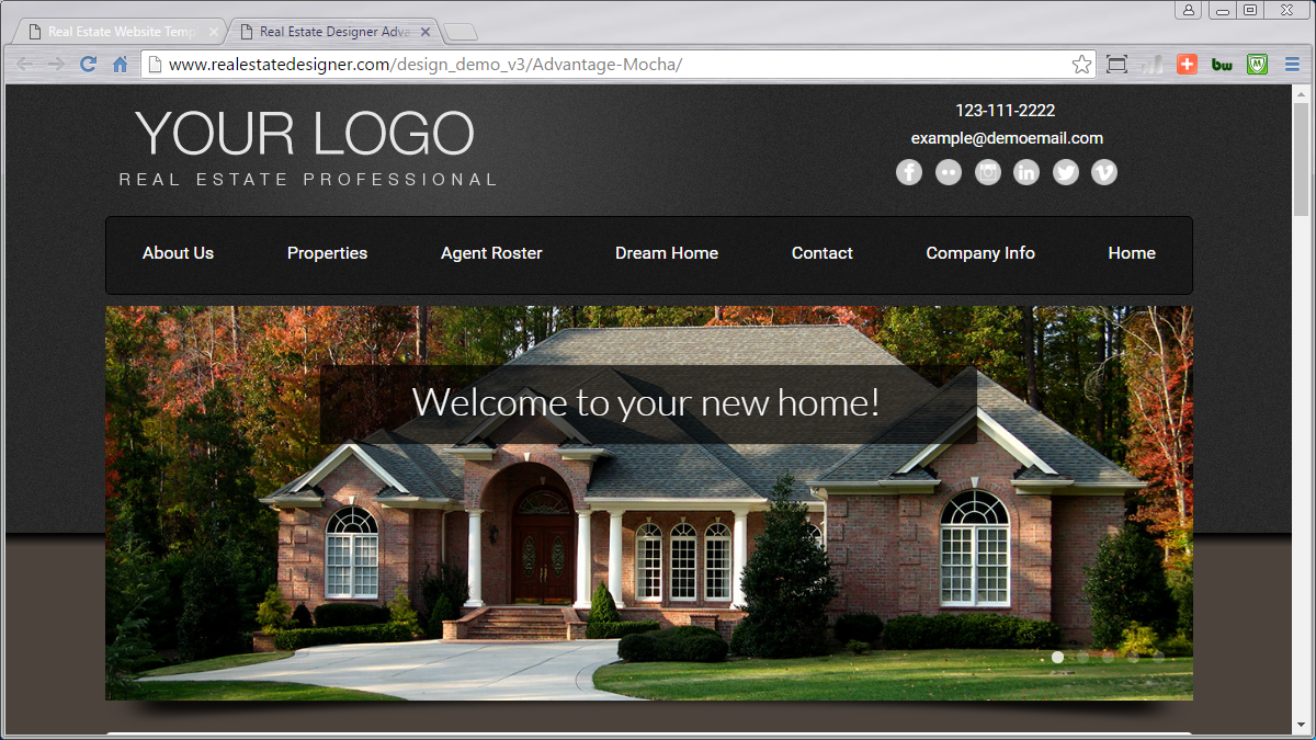 48 mobile friendly real estate website templates available for Home design websites
