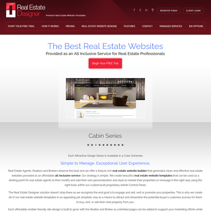 Real estate website templates real estate designer for Home design websites