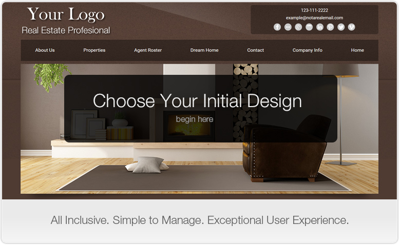 Choose Your Initial Website Design. Begin Here.