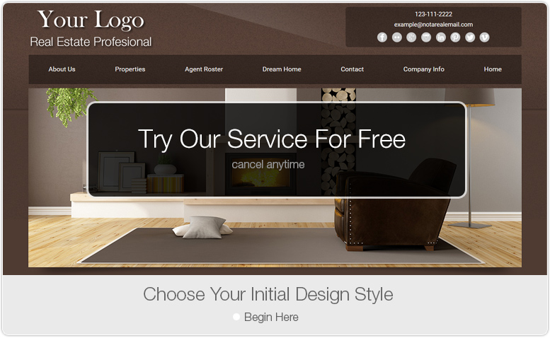 Try Our Service For Free. Choose Your Initial Design - Begin Here.