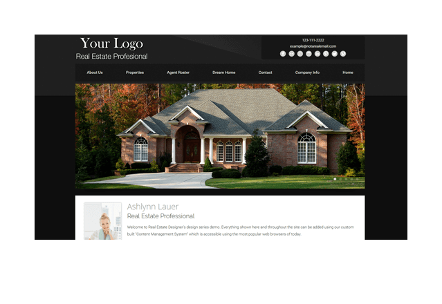 Authentic Series Real Estate Website Template