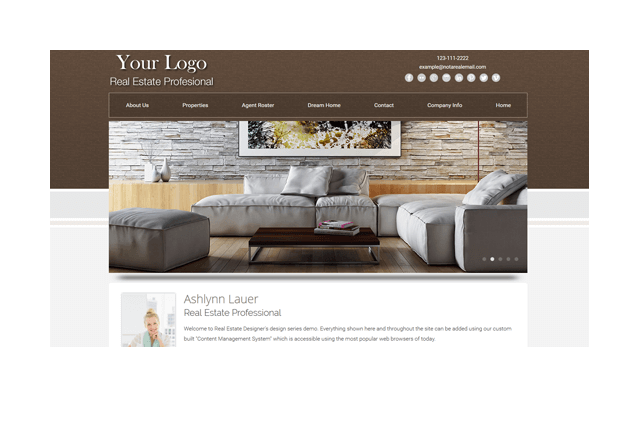 Real Estate Website Templates From Real Estate Designer