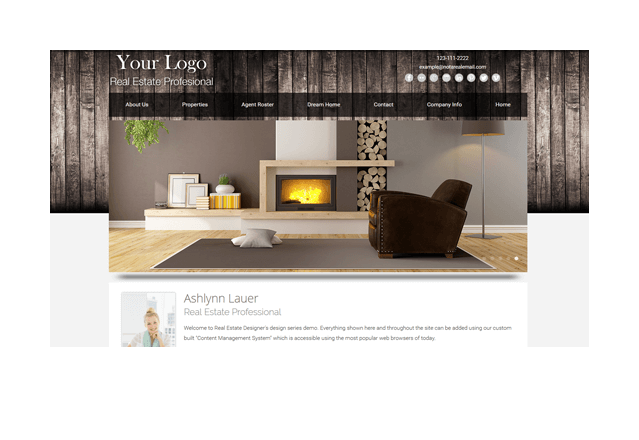 Cabin Series Real Estate Website Template