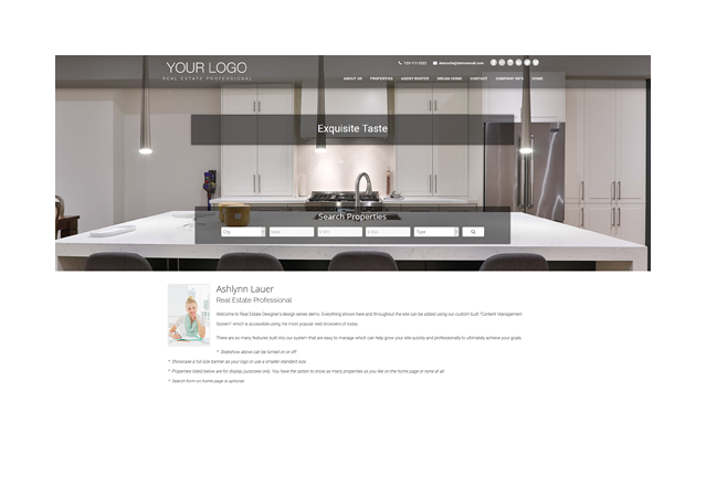 Exclusive Series Real Estate Website Template