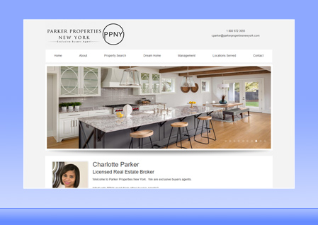 Real Estate Designer Client Website Example