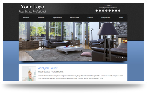 Real Estate Website Template Design Preview