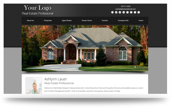 Real Estate Advantage-Grey Website Template Design Preview - Click to View