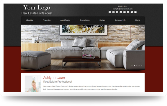 Real Estate Advantage-Maroon Website Template Design Preview - Click to View