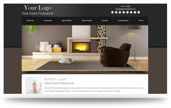 Real Estate Advantage-Mocha Website Template Design Preview - Click to View