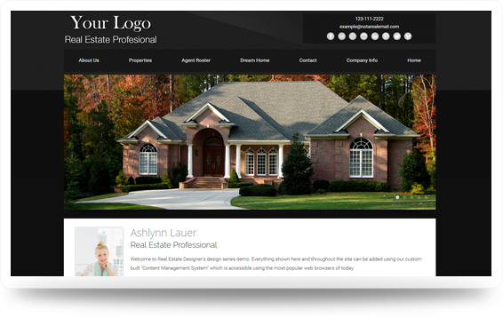 Real Estate Authentic-Dark-Grey Website Template Design Preview - Click to View