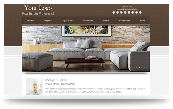 Real Estate Backsplash-Natural Website Template Design Preview - Click to View