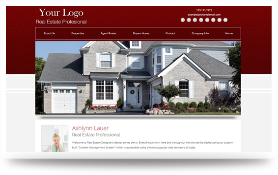 Real Estate Backsplash-Red Website Template Design Preview - Click to View