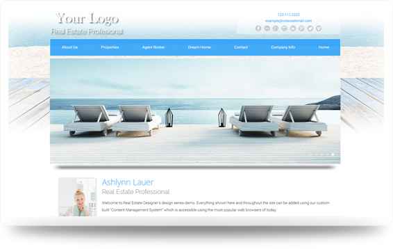 Real Estate Beach-Boardwalk Website Template Design Preview - Click to View