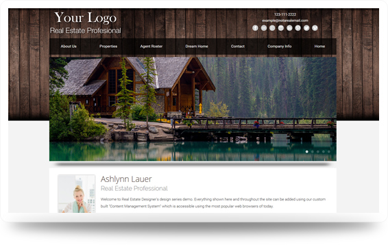Real Estate Cabin-Natural Website Template Design Preview - Click to View