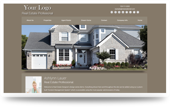 Real Estate Clean-Natural Website Template Design Preview - Click to View
