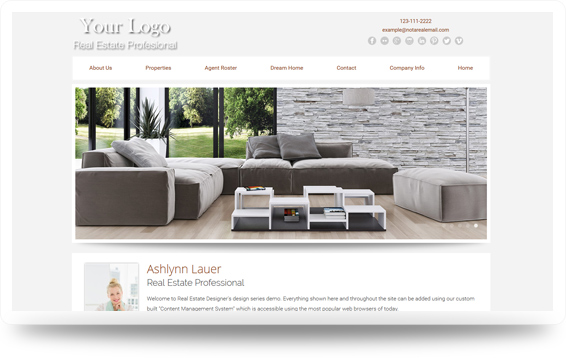 Real Estate Crisp-Natural Website Template Design Preview - Click to View