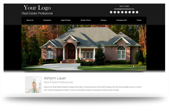 Real Estate Enchanted-Grey Website Template Design Preview - Click to View