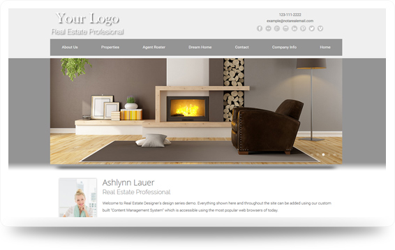 Real Estate Enchanted-Light Website Template Design Preview - Click to View