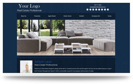 Real Estate Website Template Design Preview - Click to View
