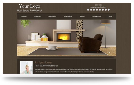 Real Estate Refined-Natural Website Template Design Preview - Click to View