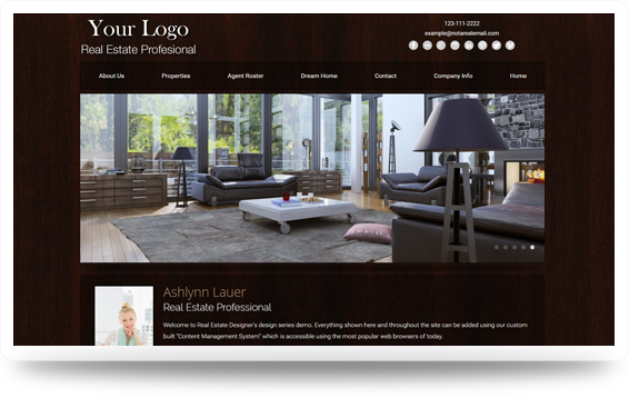 Real Estate Woodspiration-Dark Website Template Design Preview - Click to View