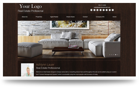 Real Estate Woodspiration-Medium Website Template Design Preview - Click to View