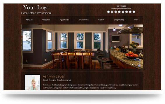 Real Estate Woodspiration-Strong Website Template Design Preview - Click to View